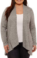 Boutique + + Long Sleeve Cardigan-Plus