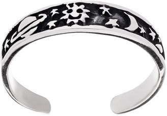 Bliss Women's Toe Rings Silver - Sterling Silver Celestial Toe Ring