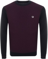 Fred Perry Textured Mix Knit Jumper Navy