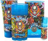 Christian Audigier Ed Hardy Hearts & Daggers Gift Set for Men (EDT Spray + Shower Gel + Deodorant + Mini EDT)