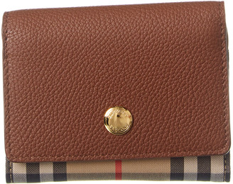 Burberry Vintage Check Canvas & Leather Trifold Wallet