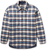 Balenciaga - Oversized Padded Checked Cotton-flannel Overshirt
