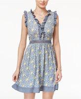 Disney Beauty and the Beast Juniors' Ruffled Fit & Flare Dress