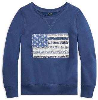 Ralph Lauren Kids Embroidered Flag Sweatshirt (7-14 Years)
