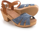 Toms Chambray Suede Beatrix Clogs (For Women)