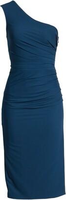 Dress the Population Martine Stretch Crepe One-Shoulder Dress