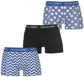 Jack and Jones Fashion 3 Pack Trunk Boxers