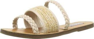 Steve Madden Women's Next Natural Slide Sandal 5.5 UK