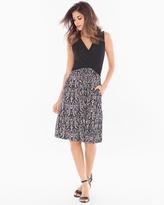 Soma Intimates Colorblock Wrap Sleeveless Dress Black/Splendor Black