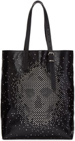Alexander McQueen Black Leather Studded Skull Tote