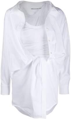 Alexander Wang draped shirt dress