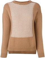 Edamame London - textured bib front jumper - women - Cashmere/Merino - 1