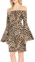 Vince Camuto Women's Animal Print Off The Shoulder Dress