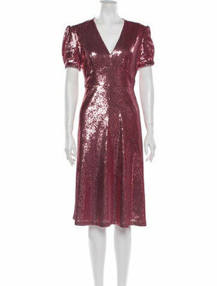HVN Paula Midi Length Dress w/ Tags Pink