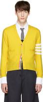 Thom Browne Red Classic Short V-neck Cardigan