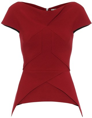 Roland Mouret Exclusive to Mytheresa a Siskin crApe top