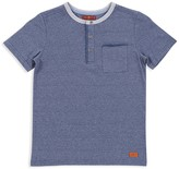 7 For All Mankind Boys' Short-Sleeve Henley Tee