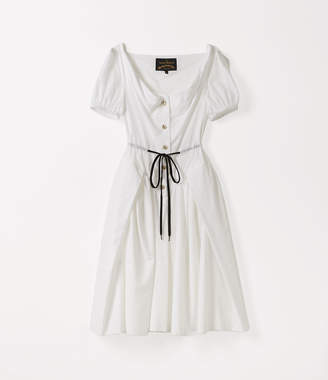 Vivienne Westwood Short Sleeve Saturday Dress Optical White