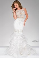 Jovani Beaded Long Mermaid Prom Dress 36991