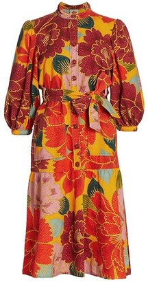 Farm Rio Chita Mini Canvas Dress