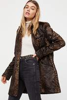 Free People Downtown Primal Fluffy Blazer