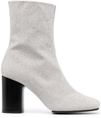 Acne Studios Glitter Block Heel Boots