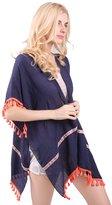 MissShorthair Womens Light Kimono Cardigan Tassel Coverup Beachwear Blouse Tops