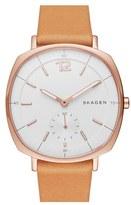 Skagen Women's 'Rungsted' Leather Strap Watch, 34Mm