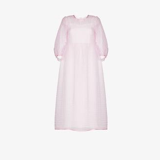 Cecilie Bahnsen Karmen pouf sleeve silk midi dress
