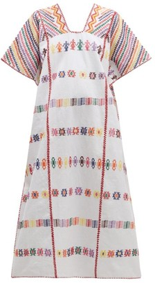 Pippa Holt - No. 145 Embroidered Cotton Kaftan - Womens - White Multi
