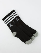 adidas 3 Pack Roller Girls Crew Socks