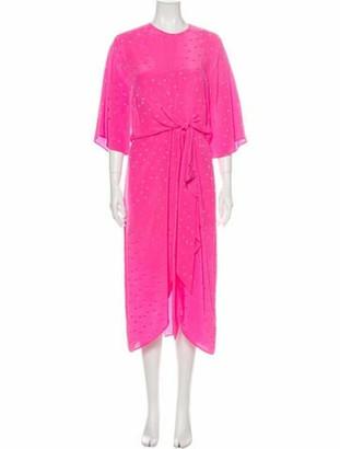 Essentiel Antwerp Silk Long Dress w/ Tags Pink