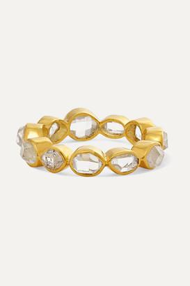 Pippa Small Crystallinity 18-karat Gold Herkimer Diamond Ring - 7
