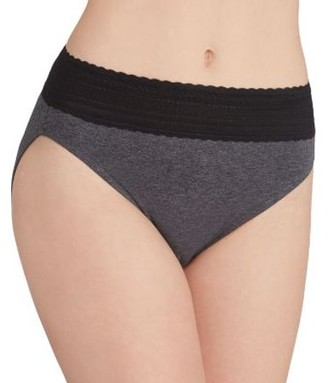 Warner's Womens No Pinching. No Problems. Cotton Hi-Cut Brief Style-RT2091P