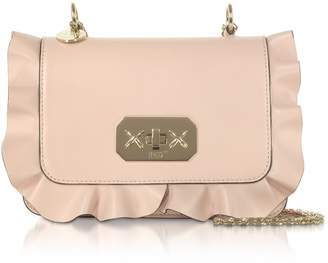 RED Valentino Rock Ruffles Shoulder Bag W/ Gold Chain Strap