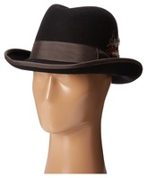 Stacy Adams Homburg Wool Felt Hat w/ Contrast Grograin Band