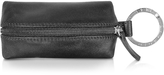 Giorgio Fedon Classica - Black Calfskin Key Fob w/ Compartment