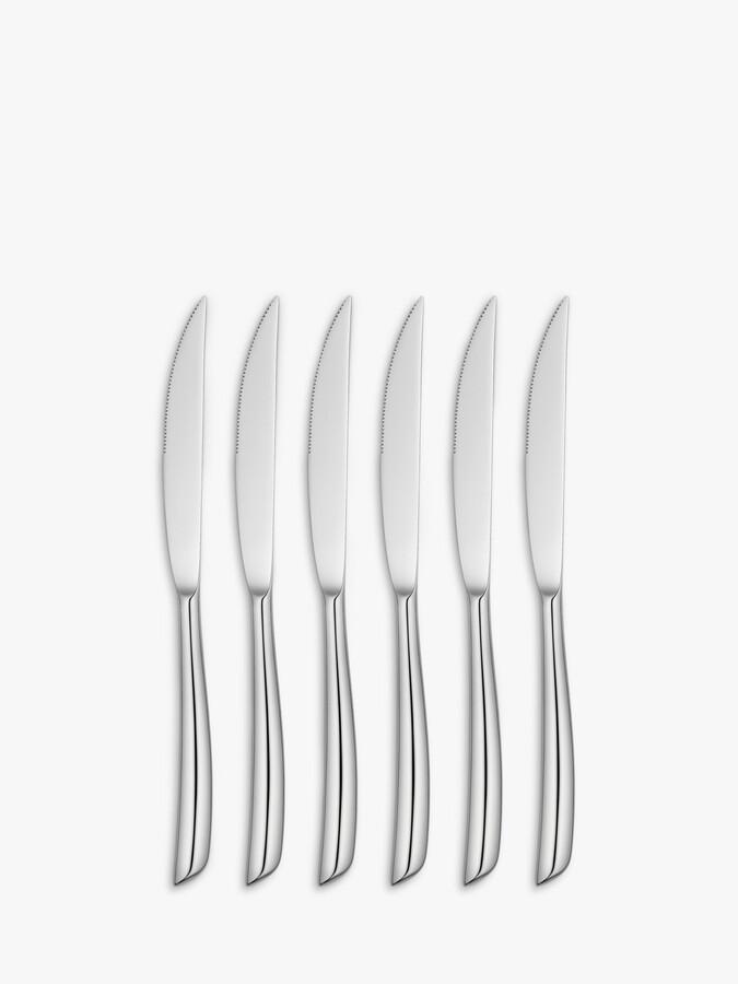 John Lewis & Partners Wave Steak Knives, Set of 6