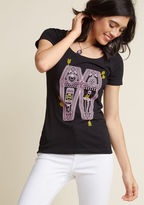 Out of Print The Cost of Star-Crossed Cotton T-Shirt in S - Short Sleeve Regular Waist by ModCloth