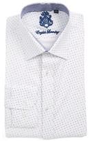 English Laundry Men's Trim Fit Geometric Dress Shirt