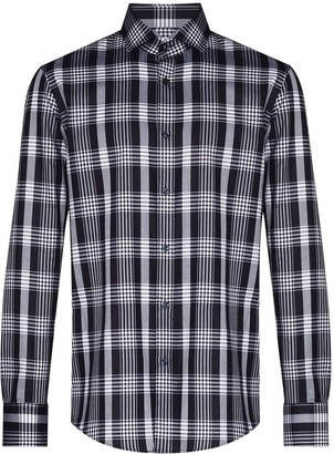 HUGO BOSS Jason check-pattern long-sleeve shirt