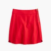 J.Crew Petite mini skirt in double-serge wool