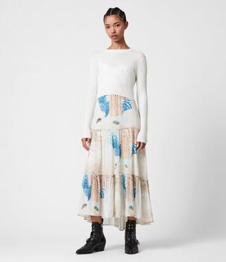AllSaints Tilly Swoop 2-In-1 Dress