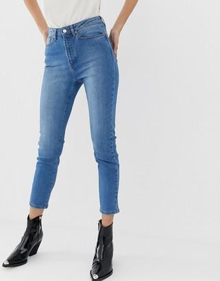 Northmore Denim organic super-high-waist straight-leg jean-Blue