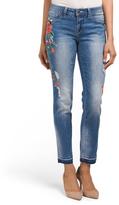 Thompson Boyfriend Floral Jeans