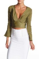 Wow Couture Bell Sleeve Crop Top