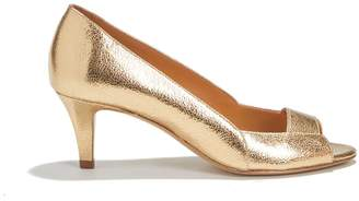 Rivecour Metallic Leather High Heels
