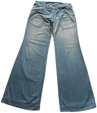 R By 45 Rpm Blue Cotton Jeans for Women