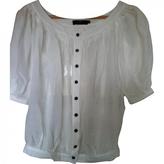 Burberry White Cotton Top