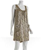 leopard printed silk tank dress